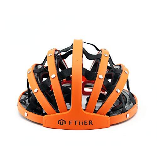fzkjgs Fahrradhelm Fahrradhelm Bequemer Helm Faltbar Einstellbar Schutz Für Erwachsene Und Atmungsaktiv,Orange