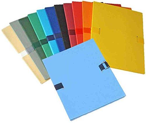 Elba 400081927 Lot de 10 Chemises extensibles à sangle 24 x 32 Assortis
