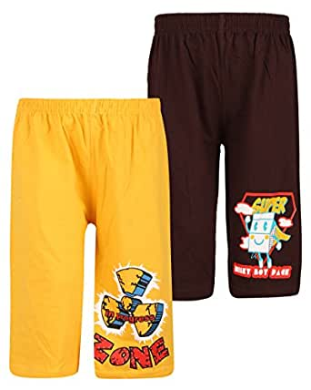 dongli Boys Fabulous Printed Capri (Pack of 2)