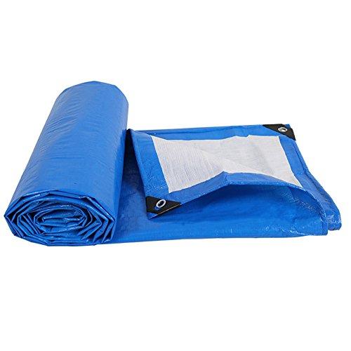 LPYMX Refuge de Camping Bâche, Protection Solaire imperméable à l'eau, résistant à la déchirure, auvent extérieur de bâche de Voiture, Bleu + Argent (Couleur : A, Taille : 3 x 4m)