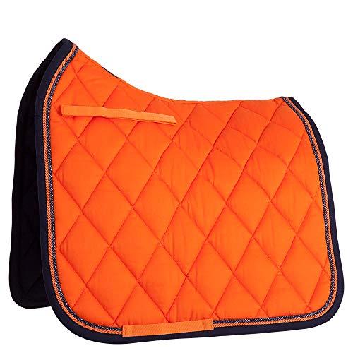 BR Schabracke Event Dressur Luxusbandbiese 400 g Füllung viele wunderschöne Farben! (Vollblut, Sunset Orange)