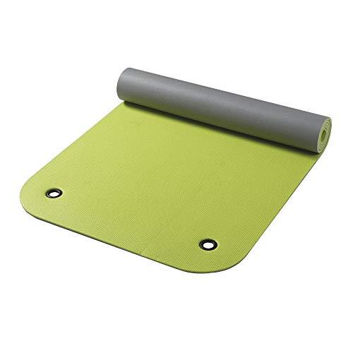 Vida GmbH Gymnastikmatte mit Ösen apfelgrün/grau zweifarbig 65 x 180 cm