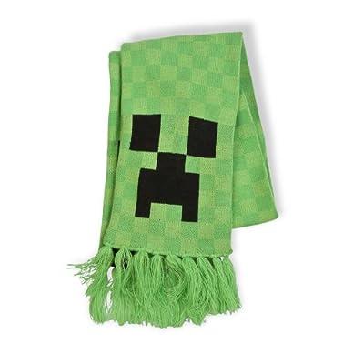 Minecraft - bufanda de creeper - con flecos, regalo original, 1,50 m de largo