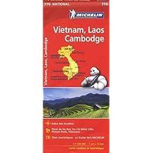 Carte Vietnam Laos Cambodge