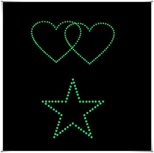 XLGX Leuchtende Sterne Muster Wandaufkleber dekorative Malerei hohe Qualität kreatives Aussehen schöne Fluoreszierende Wandaufkleber Wohnzimmer Schlafzimmer Dekoration Tapete (Grün)
