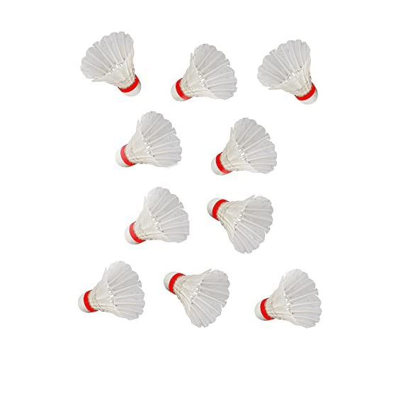 S.A.S Sports Rohit Pro Feather Shuttlecock, Pack of 10 (White)