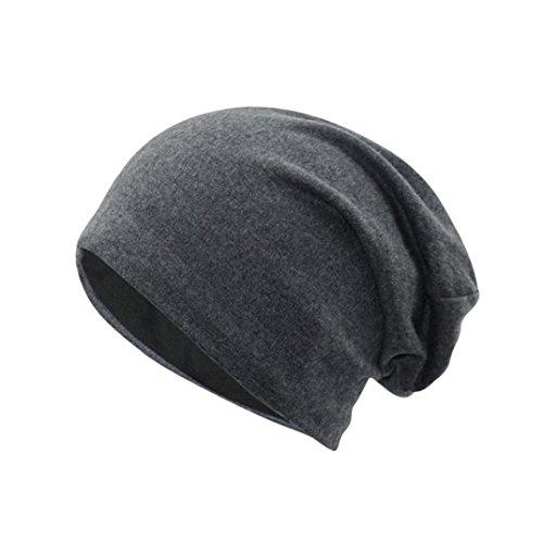 Longra Unisex Neue Frauen Männer Winter warme Mütze häkeln Warm Strick Strick Mütze Hüte (Dark Gray) (Doll Superman Baby)