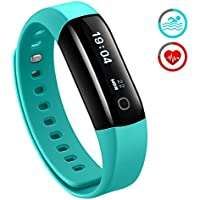 Fitness Tracker, Mpow Heart Rate Monitor Waterproof for Swimming Activity Tracker Pedometer Smart Bracelet Wristband Sleep Monitor Smartwatch for Android and iOS Smartphones Like iPhone 7 6 Samsung, Green