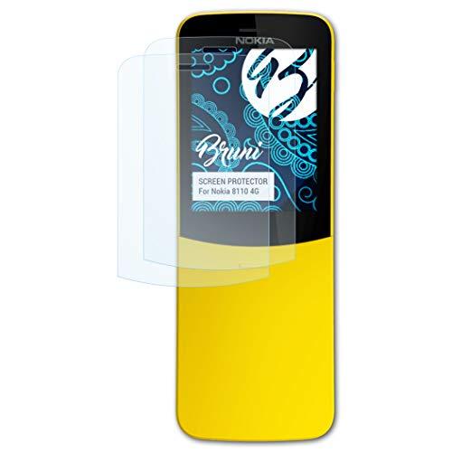 Bruni Schutzfolie kompatibel mit Nokia 8110 4G Folie, glasklare Bildschirmschutzfolie (2X)