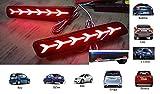 #7: PR Car Reflector Led Brake Light for Bumper Rear , Back(Red)- Set of 2 Pcs