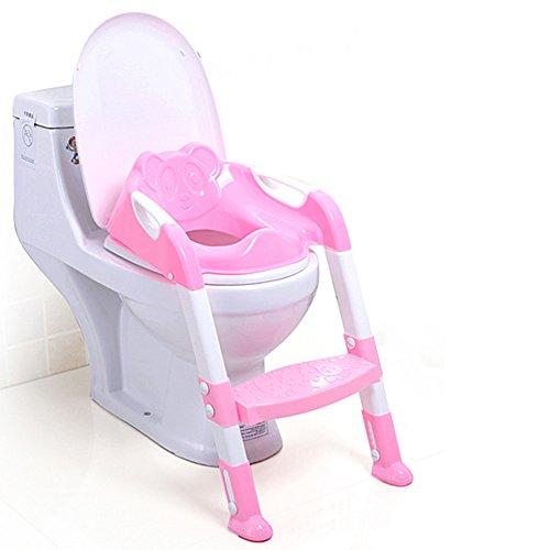 Toilettes pour enfants Bébé Toddler Potty Formation Toilettes Ladder Seat Steps Assistant Potty pour Enfant Enfant Toilette Toilette (Bleu) (Couleur : Pink, Taille : 2)