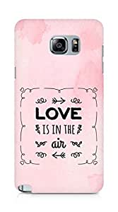 Amez Love is in the Air Back Cover For Samsung Galaxy Note 5