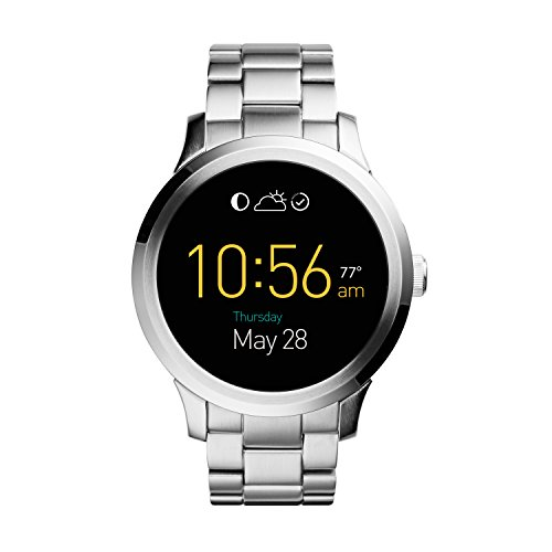 FOSSIL Q Founder Men's (Unisex) Digital Watch with LCD Dial and Silver Stainless Steel Bracelet FTW20002