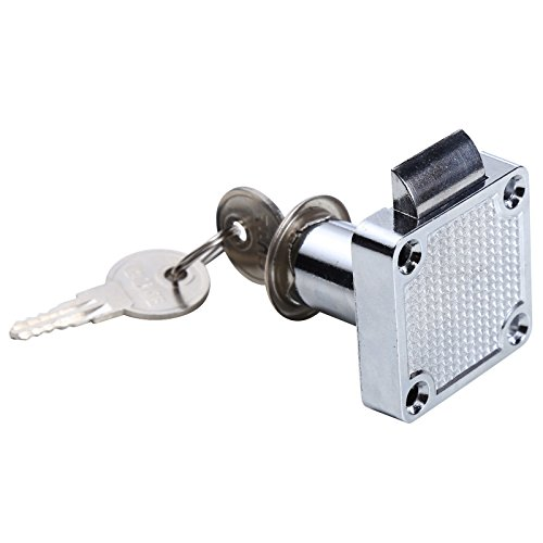 uhppote Zink Legierung Cam Lock für Tür Cabinet Mailbox Schrank & Schublade Schlössern (2Stück)