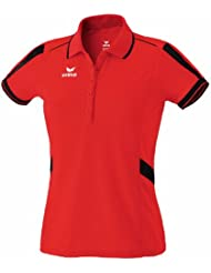 erima Poloshirt Alpha - Polo para mujer ( mujer ) , color rojo / negro, talla 34