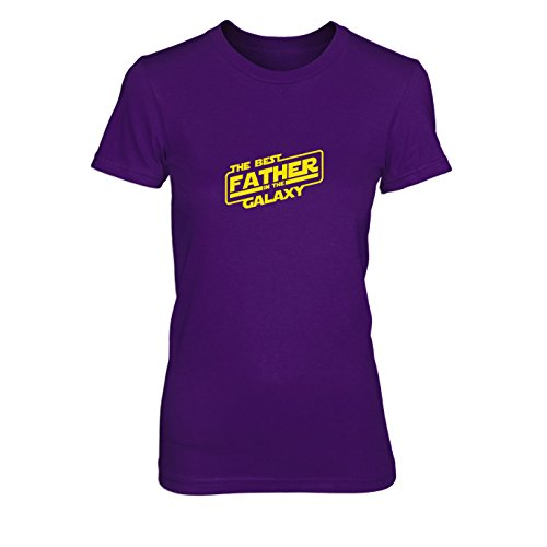 SW: Best Father - Damen T-Shirt, Größe: XL, Farbe: lila