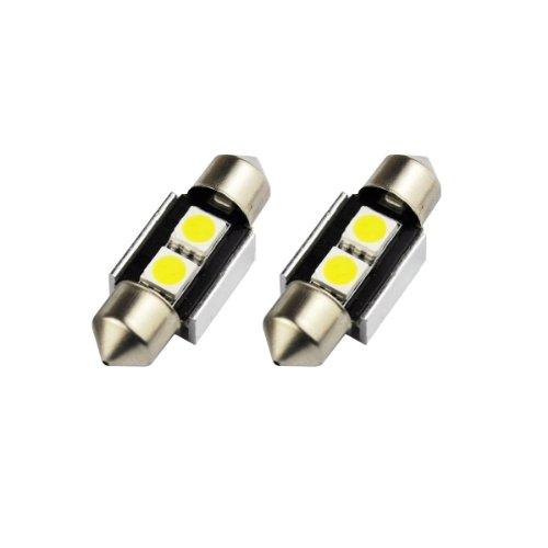 Akhan S31C3WK - Weiss Can Bus C5W Soffitte mit 2x2 SMD LED (No Error) 31mm für Innenraumbeleuchtung Türbeleuchtung Kofferraumbeleuchtung Fußraumbeleuchtung Kennzeichenbeleuchtung