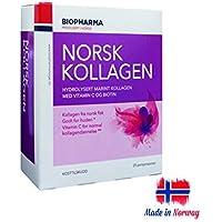 Premium Noruego Hdrolizado Colágeno Marino Polvo con Vitamina C y Biotina