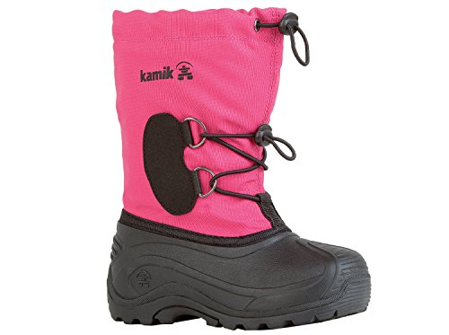 Kamik SOUTHPOLE3 Unisex-Kinder Warm gefütterte Schneestiefel Pink (bright rose ROS)