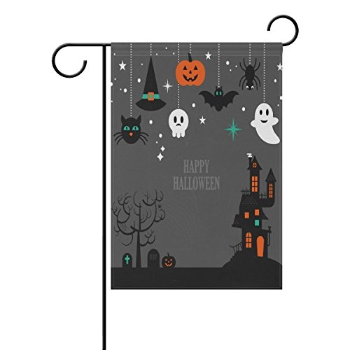 loween doppelseitig Familie Flagge Polyester Outdoor Flagge Home Party Decro Garten Flagge 30,5 x 45,7 cm, Polyester, multi, 12x18(in) (Halloween Dekor Für Billig)