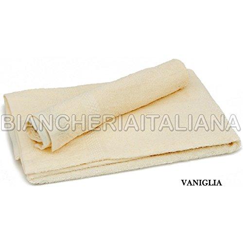 Caleffi Set Tre Coppie Asciugamani in Spugna (6pz) 3 Viso + 3 Ospiti 100% COTONE Colore VANIGLIA