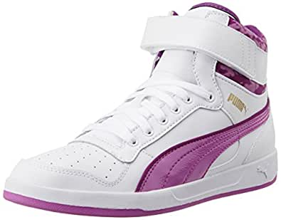 Puma Women's Puma Liza Mid Blur White and Meadow Mauve Sneakers - 6 UK/India (39 EU)