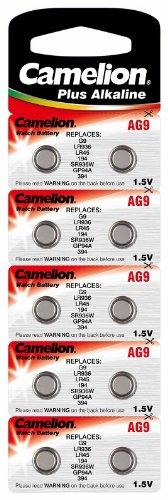 Alkaline Knopfzelle CAMELION AG9/LR45/LR936/394 Original