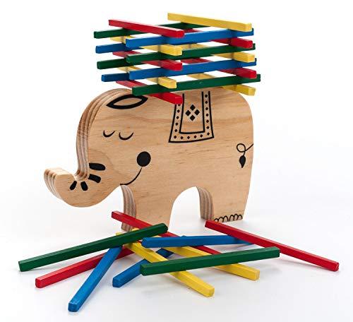 Engelhart - Conjunto de Equilibrio y apilamiento Elefante de Madera - 340915