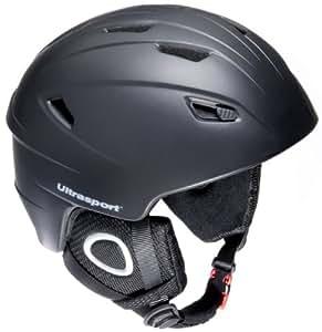 Ultrasport New Race Edition Snowboard Helmet - Black, X-Small