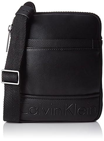 Calvin Klein Bennet Mini Flat Cro, 001, Os, Besaces homme, Black, 2x16x20 cm (W x H L)