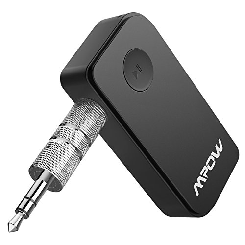 mpow® portable bluetooth 3.0 audio music streaming receiver adapter with hands free calling and 3.5 mm stereo output Mpow® Portable Bluetooth 3.0 Audio Music Streaming Receiver Adapter with Hands Free Calling and 3.5 Mm Stereo Output 41ucIHK PXL
