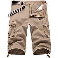 junkai Casual Hombres Twill Cargo Shorts Summer Fashion Sports Beach Bolsillos De Viaje Capri Camuflaje Pantalones Cortos