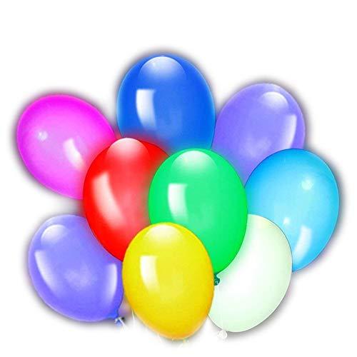 50pcs Globos Led Colores Globos Luz para Fiesta Boda Fiesta Cumpleaños Navidad Reunión Ceremonia Globos de cumpleaños