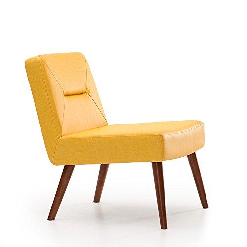 MEIDUO Durable Selles Chaise longue en bois massif Dossier avec repose-pieds avec beaucoup de couleurs pour intérieur extérieur (Couleur : Le jaune, taille : B)