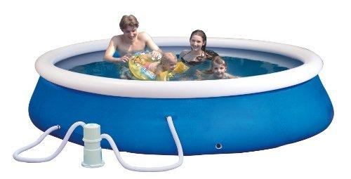 Planschbecken-Set (Quick-up-Pool) Durchmesser: 365cm, Höhe: 76cm inklusiv e einer Filter Pumpe