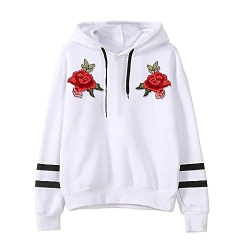 Damen Pullover Xinan Plus Size Shirt Jacke Tops Bluse (XL,