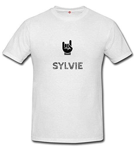 T-shirt Sylvie - Print Your Name White