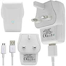 LG L3 II P430 - Micro USB UK Mains / Wall Charger Plug by Excellent Accessories, [Importado de Reino Unido]