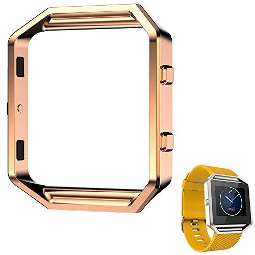 spritech-tm-bumper-di-eleganza-cornice-portafoto-e-orologio-in-metallo-blaze-fermaglio-per-fitbit-bl