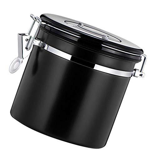F Fityle Kaffeedose, Kaffeebehälter Edelstahl Vorratsdose, viele Farbe Auswahl - Schwarz