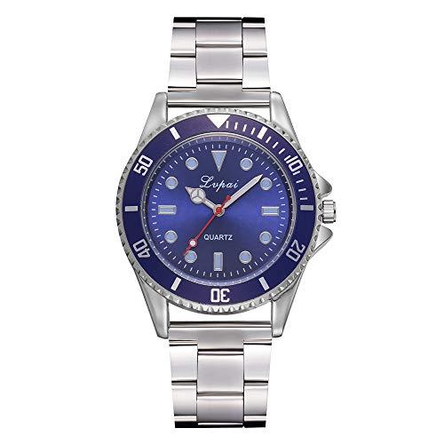 Fenverk Specialty Herren Uhr Edelstahl Quarz blauen Zifferblat Pagani Design Automatic Divers beobachtet die analoge Automatik-Uhr der Männer mit Edelstahlband (Blau) -