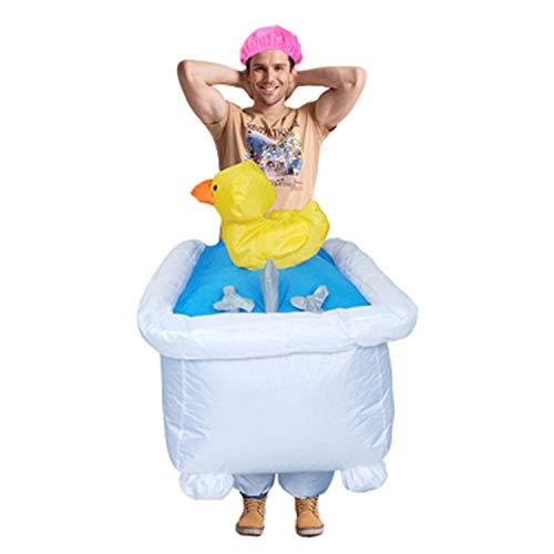 LOVEPET Halloween Weihnachten Erwachsene Badewanne Inflatables Kostüme Lustige Spaß Rave Party Festival Performance Event Anzug Maskerade Requisiten Bühne Leistung Anzug