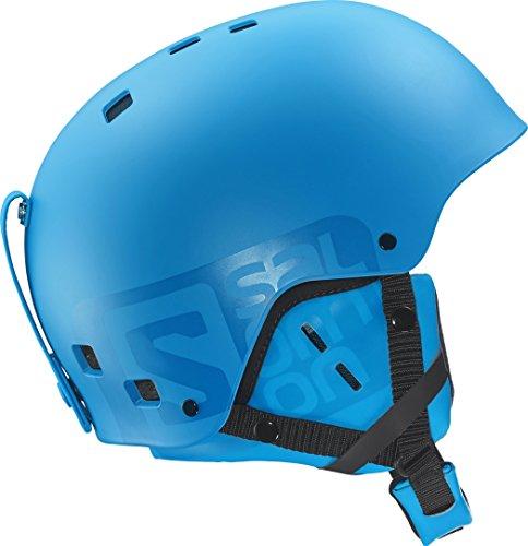 Salomon, casco per adulti, unisex, sci e snowboard, park and pipe, abs iniettati + fodera eps, taglia s, circonferenza 55-56 cm, brigade, blu opaco, l37776400