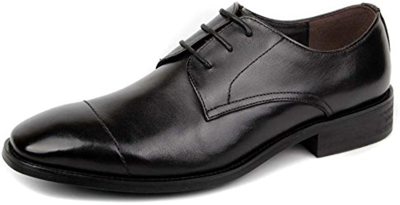 Hombre Clásico Zapatos De Cuero Formales Zapatos De Encaje Hombre Negro Marrón Redondo Zapatos De Cuero EN La... -