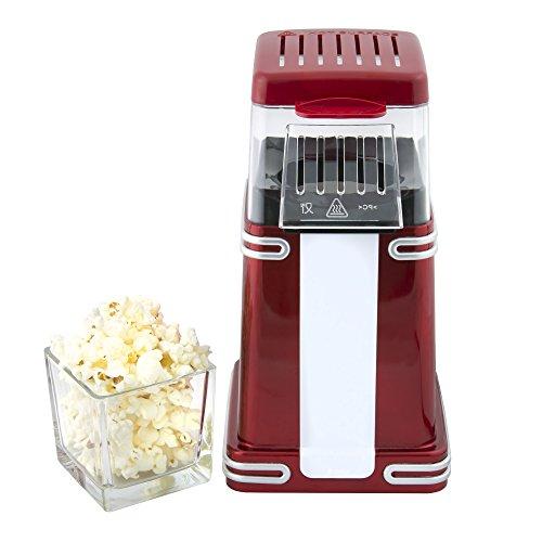 Gadgy popcorn machine | retro macchina pop corn compatta | aria calda senza olio grasso