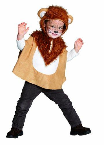 Kinder Kostüm kleiner Löwe Cape mit Kapuze Karneval Fasching Gr.116 (Kostüm Löwe Kind)