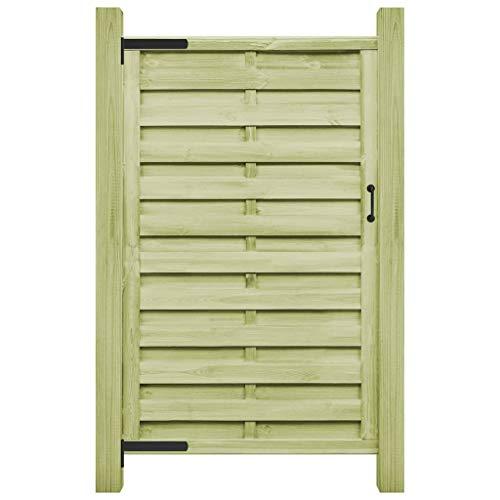 vidaXL Legno Pino FSC Cancello Steccato 100x200 cm Verde Recinzione Giardino