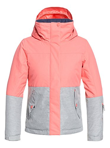 Roxy Mädchen Jetty Girl Block JK Snow Jacket, Shell pink, 8/S