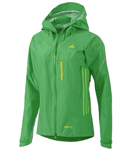 adidas Damen GORE-TEX PRO Outdoor Jacke Terrex Feather Jacket Hardshell (32, blaze green)