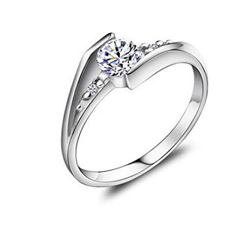 925 Sterling Silber Zirkonia Damen-Ring Verlobungsring design schmuck (56 (17.8))